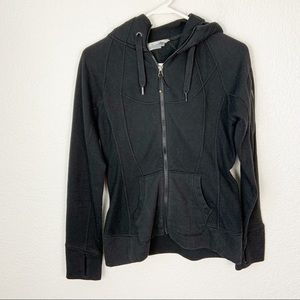 Athleta Black Full Zip Hoodie XS